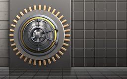 contenitore sicuro di metallo 3d Fotografia Stock Libera da Diritti