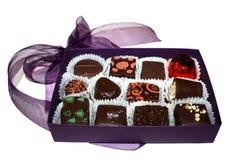 Contenitore viola di cioccolato Immagini Stock Libere da Diritti