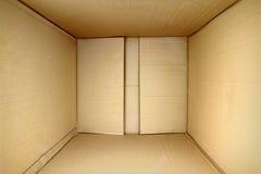 Contenitore vuoto di pacchetto, lato interno di vista 3d. Immagine Stock