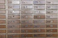 Contenitori antichi di posta Immagini Stock