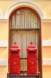 Contenitori antichi tailandesi gemellati di posta, Ayutthaya Fotografia Stock
