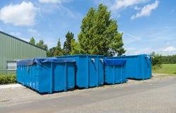 Contenitori blu Fotografie Stock Libere da Diritti