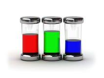 Contenitori con l'inchiostro di RGB Fotografie Stock Libere da Diritti