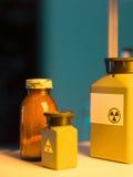 Contenitori del rifiuto tossico fotografie stock
