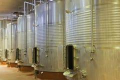 Contenitori del vino Fotografia Stock