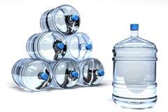 Contenitori dell'acqua minerale Immagine Stock