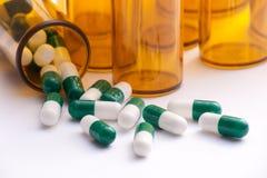 Contenitori della pillola Immagini Stock