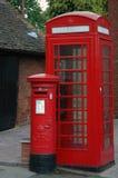 Contenitori della posta e di telefono Fotografie Stock