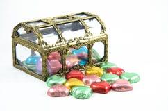 Contenitori di cioccolato Fotografia Stock