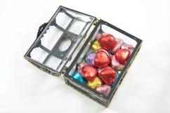 Contenitori di cioccolato di apertura Fotografia Stock Libera da Diritti