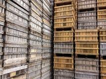 Contenitori di legno Fotografia Stock