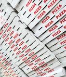 Contenitori di pizza Fotografia Stock Libera da Diritti