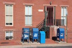 Contenitori di posta degli Stati Uniti Fotografia Stock