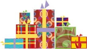 Contenitori di regali del nuovo anno Immagini Stock