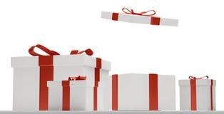 Contenitori di regali di Natale 3d-illustration Immagini Stock Libere da Diritti
