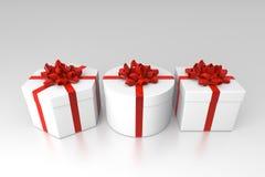 Contenitori di regalo aperti Immagine Stock Libera da Diritti