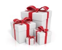 Contenitori di regalo bianchi illustrazione di stock