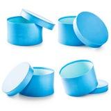 Contenitori di regalo blu Fotografia Stock