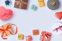 Contenitori di regalo da vendere progettazione dell'insegna Immagini Stock Libere da Diritti