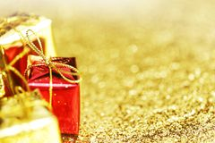 Contenitori di regalo decorativi Fotografia Stock