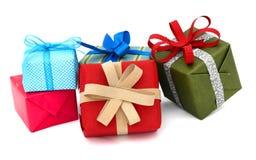 Contenitori di regalo della festa Fotografia Stock