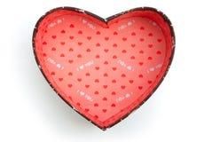 Contenitori di regalo di forma del cuore Fotografia Stock Libera da Diritti