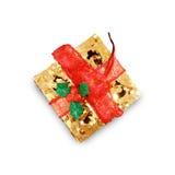 Contenitori di regalo di giorno del ` s del nuovo anno e di Natale, backg di bianco dei contenitori di regalo Immagine Stock