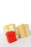 Contenitori di regalo di Natale Fotografia Stock Libera da Diritti
