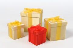 Contenitori di regalo di Natale Fotografia Stock