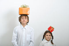 Contenitori di regalo di natale Fotografie Stock