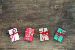 Contenitori di regalo fatti a mano Immagine Stock Libera da Diritti