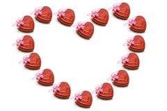 Contenitori di regalo a forma di del cuore Fotografia Stock