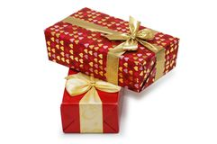 Contenitori di regalo isolati Fotografia Stock
