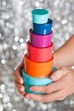 Contenitori di regalo luminosi Fotografia Stock