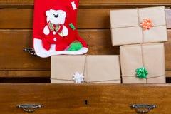 Contenitori di regalo per il Natale Fotografie Stock Libere da Diritti