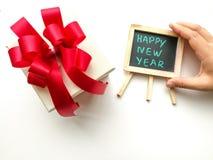 Contenitori di regalo per il nuovo anno di anniversario Immagine Stock