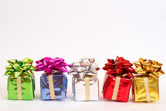 Contenitori di regalo per natale Immagine Stock