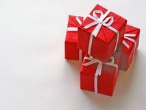 Contenitori di regalo rossi 1 Fotografie Stock Libere da Diritti