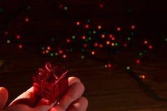 Contenitori di regalo rossi Immagini Stock Libere da Diritti