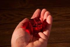 Contenitori di regalo rossi Immagini Stock