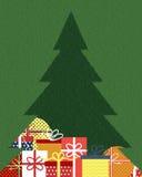 Contenitori di regalo sotto l'albero di Natale Fotografie Stock