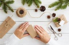 Contenitori di regalo su bianco Fotografia Stock Libera da Diritti