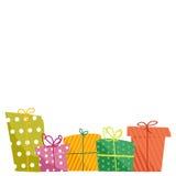 Contenitori di regalo svegli Immagine Stock