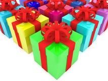 Contenitori di regalo variopinti Immagine Stock