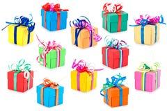 Contenitori di regalo variopinti Fotografie Stock