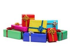 Contenitori di regalo variopinti Immagine Stock Libera da Diritti