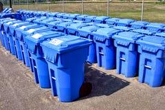Contenitori di riciclaggio comunali Fotografia Stock Libera da Diritti