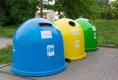 Contenitori di rifiuti Immagini Stock