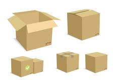 Contenitori di scatola impostati Fotografia Stock Libera da Diritti