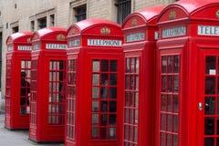 Contenitori di telefono inglesi Fotografie Stock